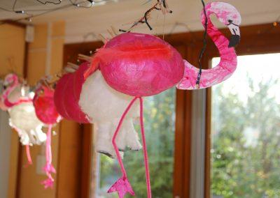 Zwergenburg - Erlebnishaus Laterne basteln Flamingo
